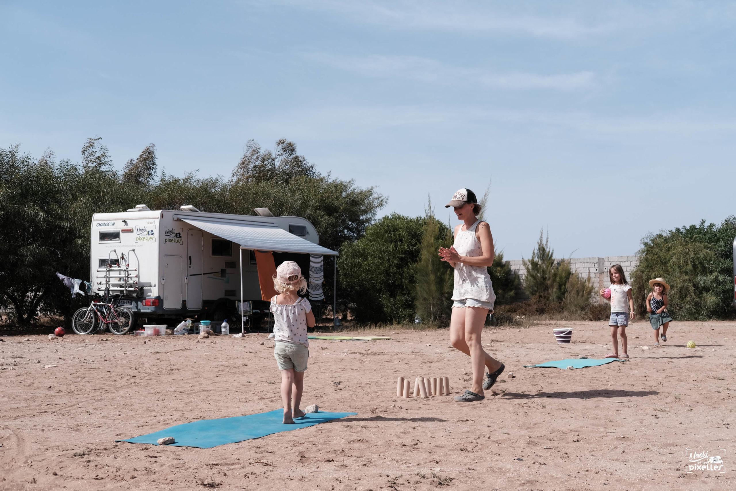 parcours sportif pour amuser les enfants