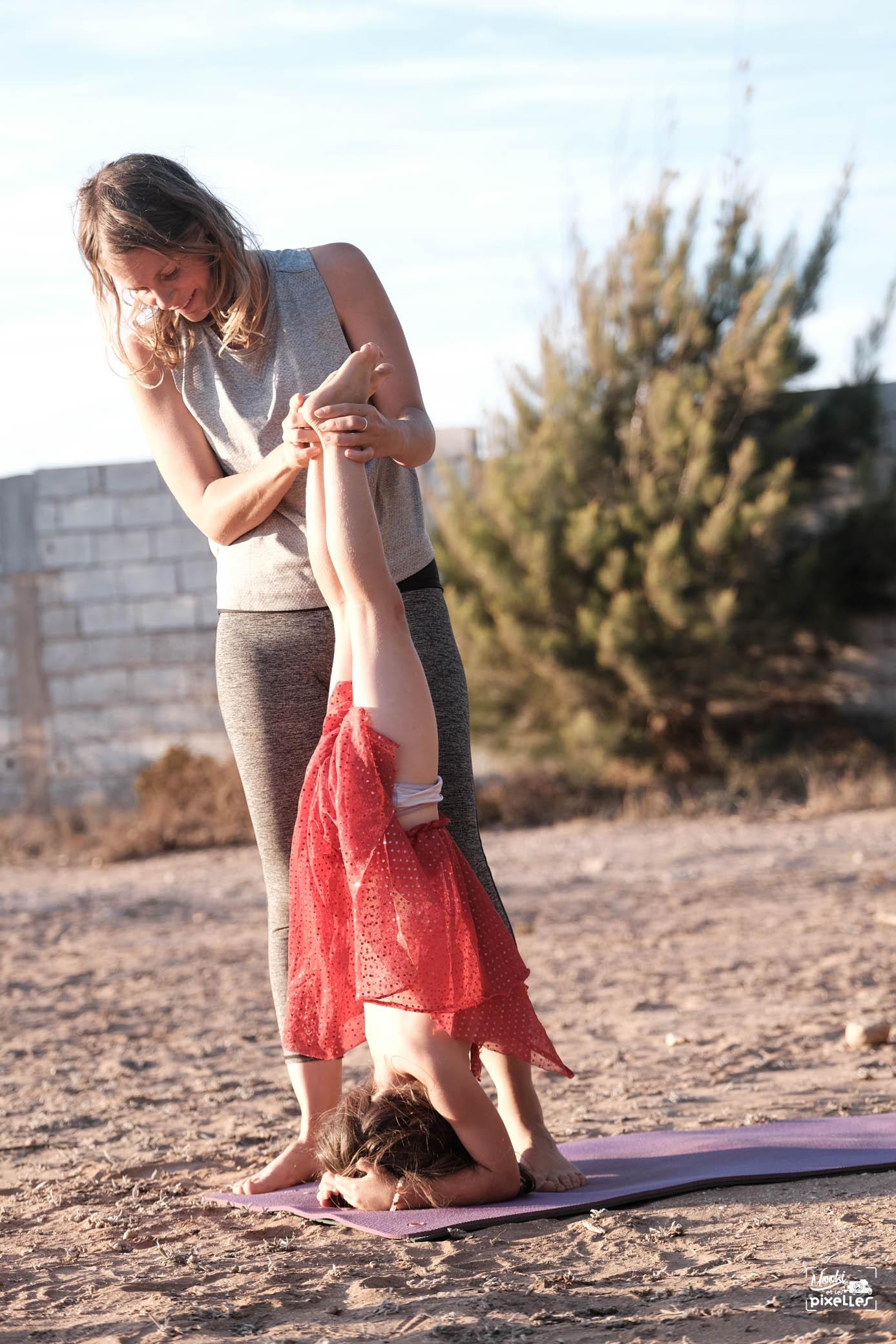 yoga maman avec sa fille