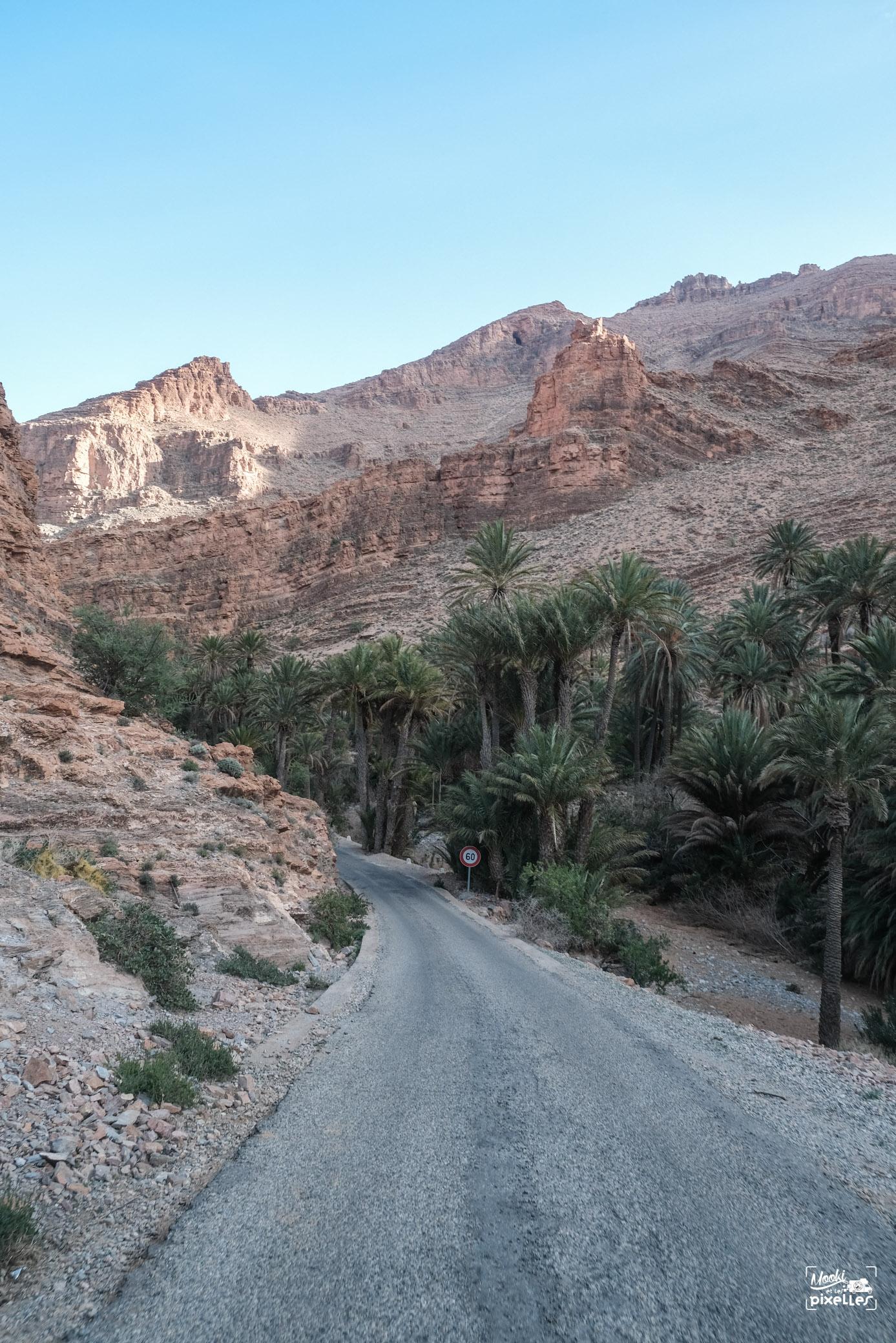 Entrée dans les gorges d'Ait Mansour au Maroc