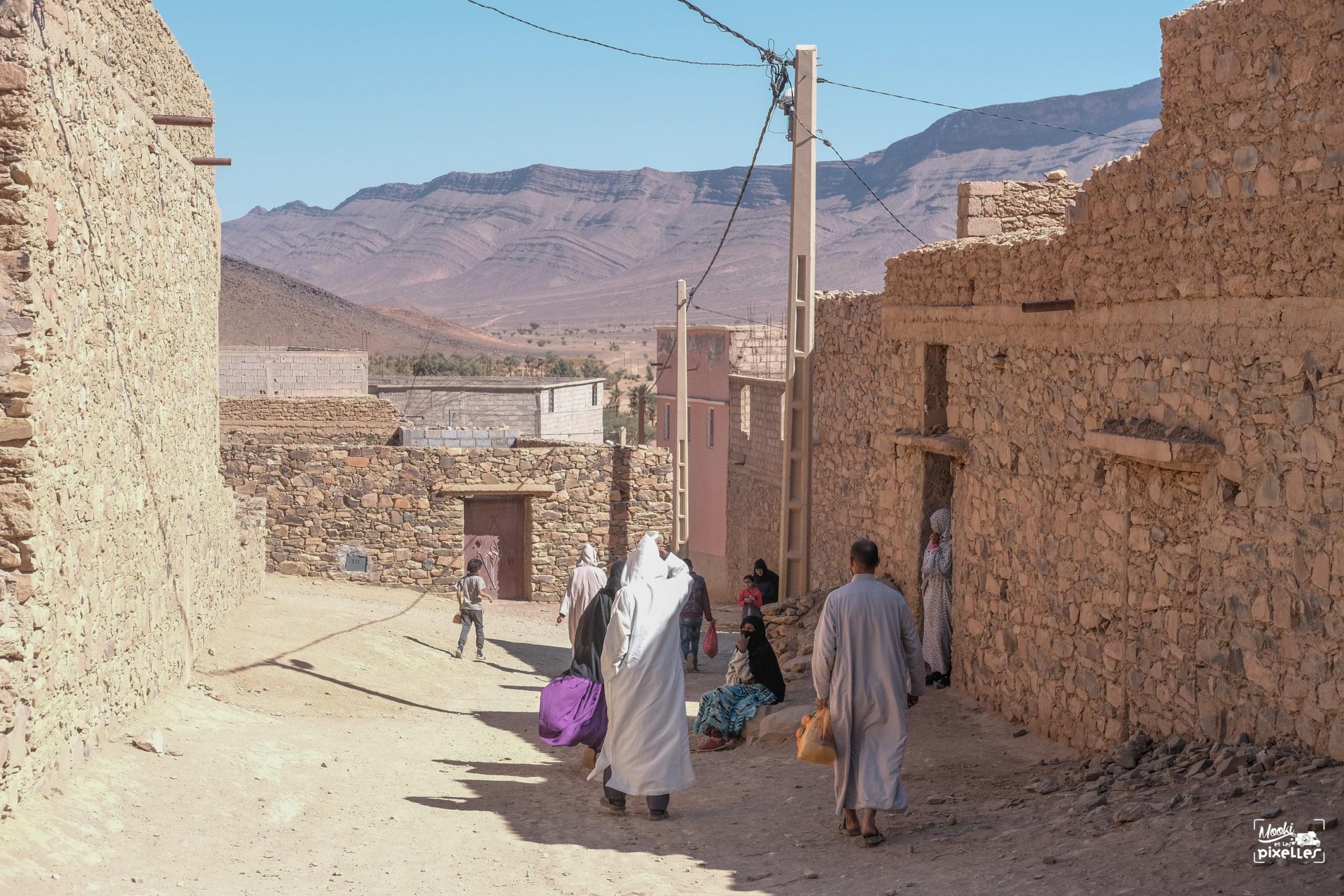 Villageois au Maroc