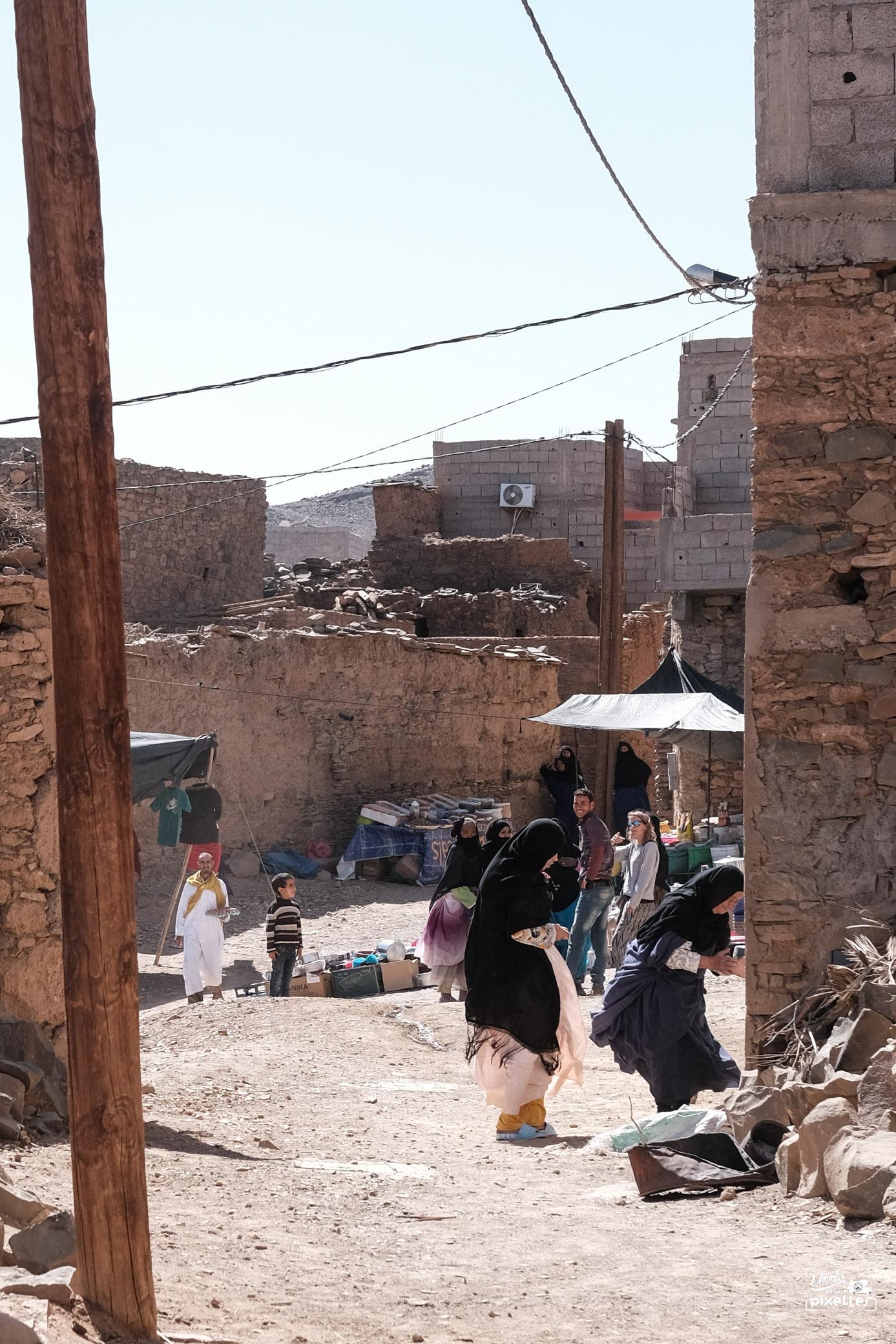Souk dans un village marocain
