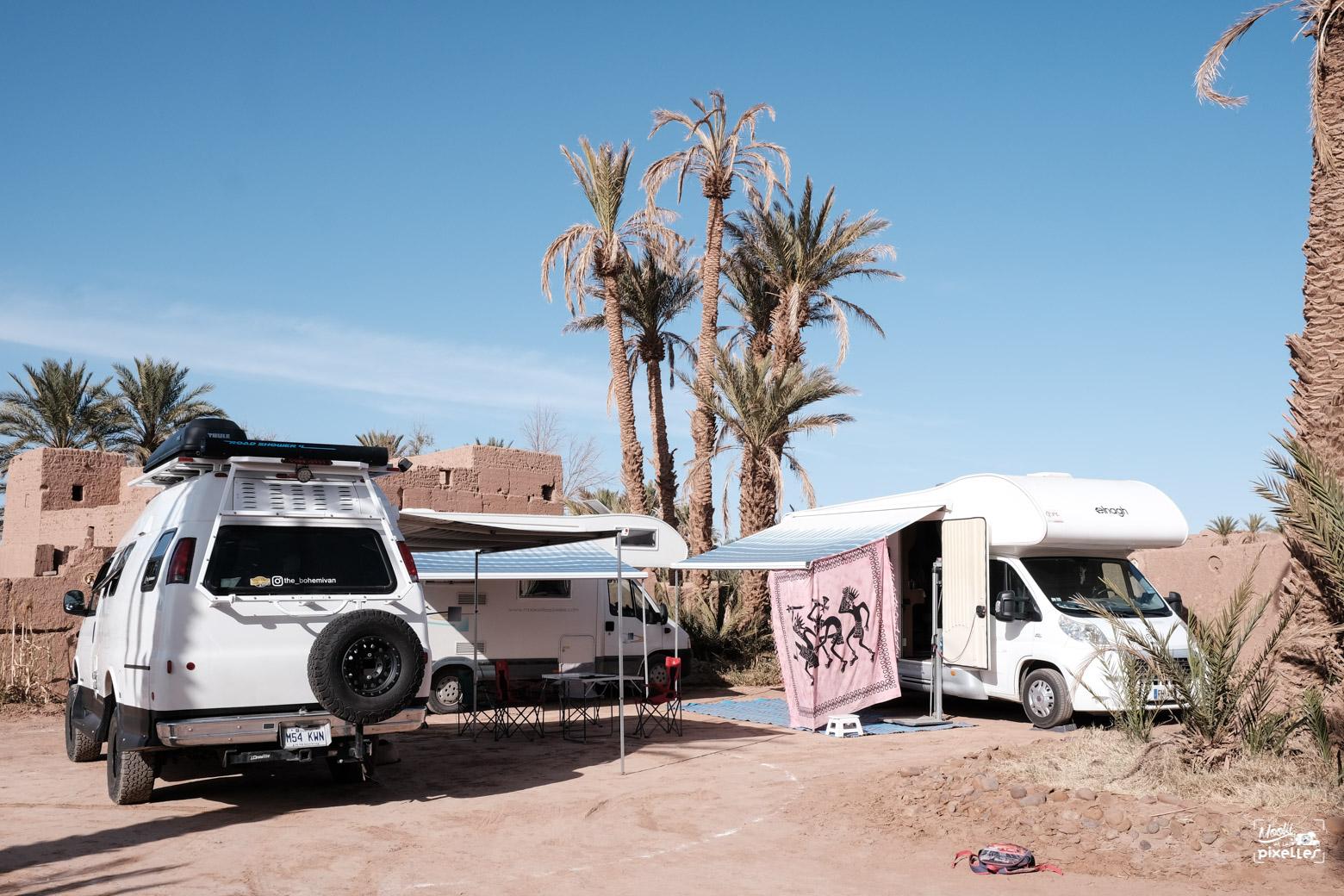 Campement dans une kasbah à M'hamid au Maroc