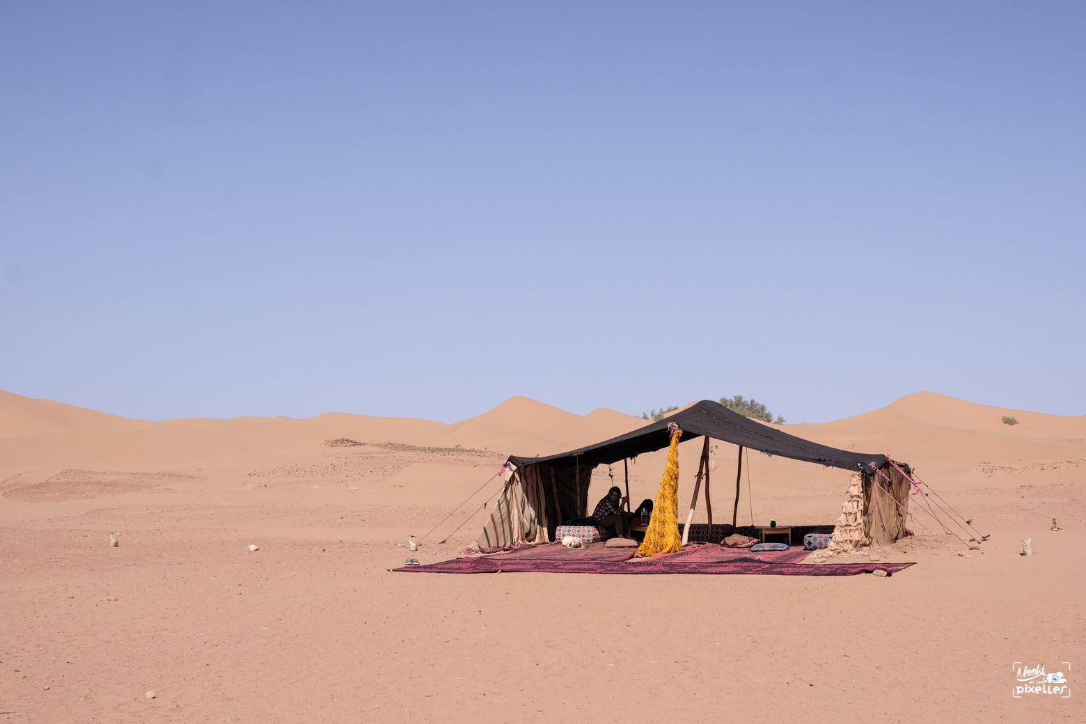 Tente berbère au Maroc