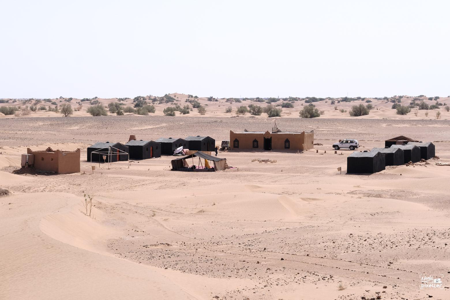 Bivouac de Mbark à M'hamid au Maroc