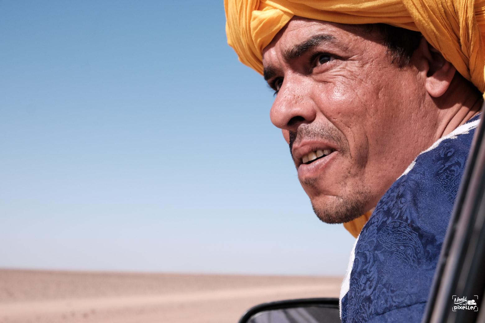 Notre guide Mbark à M'hamid au Maroc