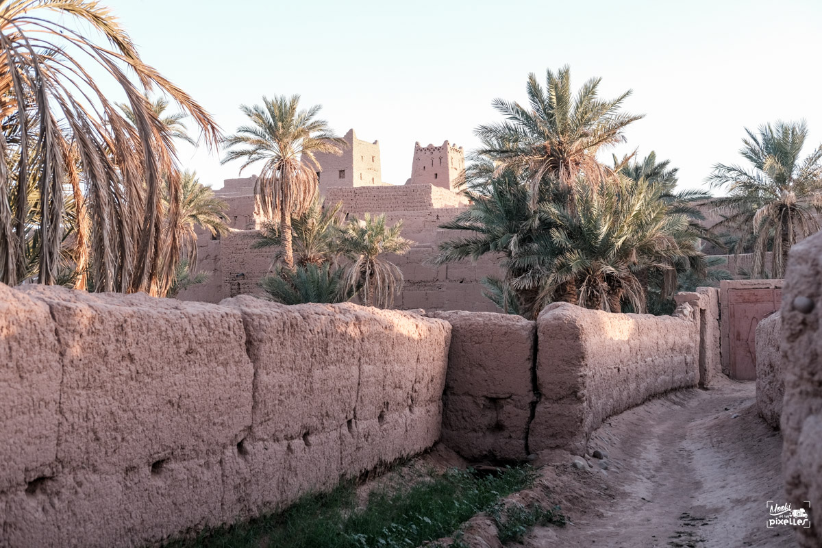 Ruelle du Ksar de Mhamid au Maroc