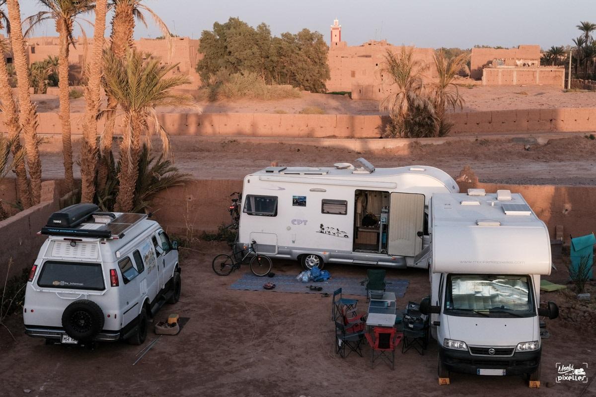 Notre bivouac à Mhamid au Maroc