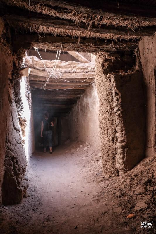 Les ruelles sous terraines de Tamegroute au Maroc