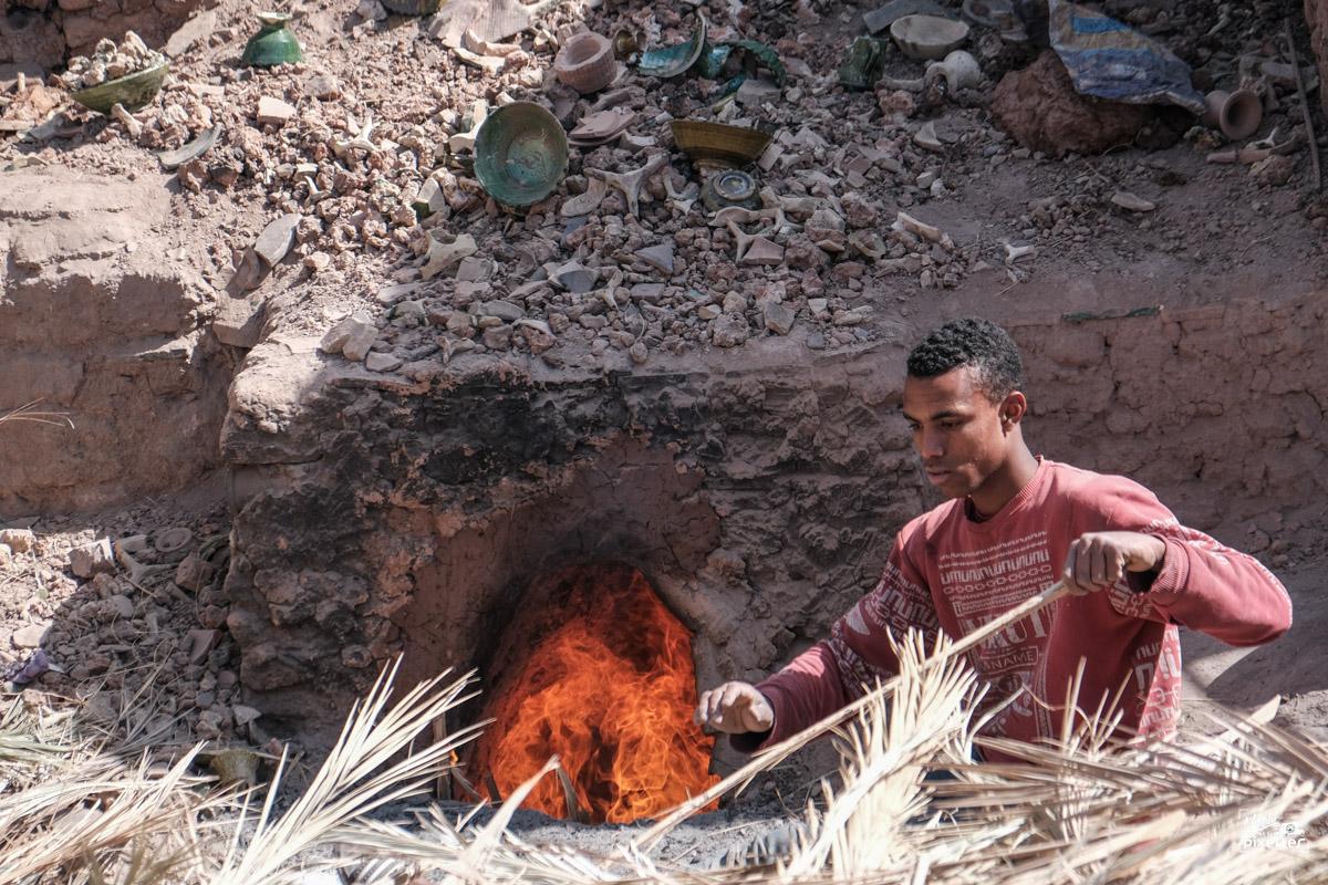 Four traditionnel de potier au Maroc