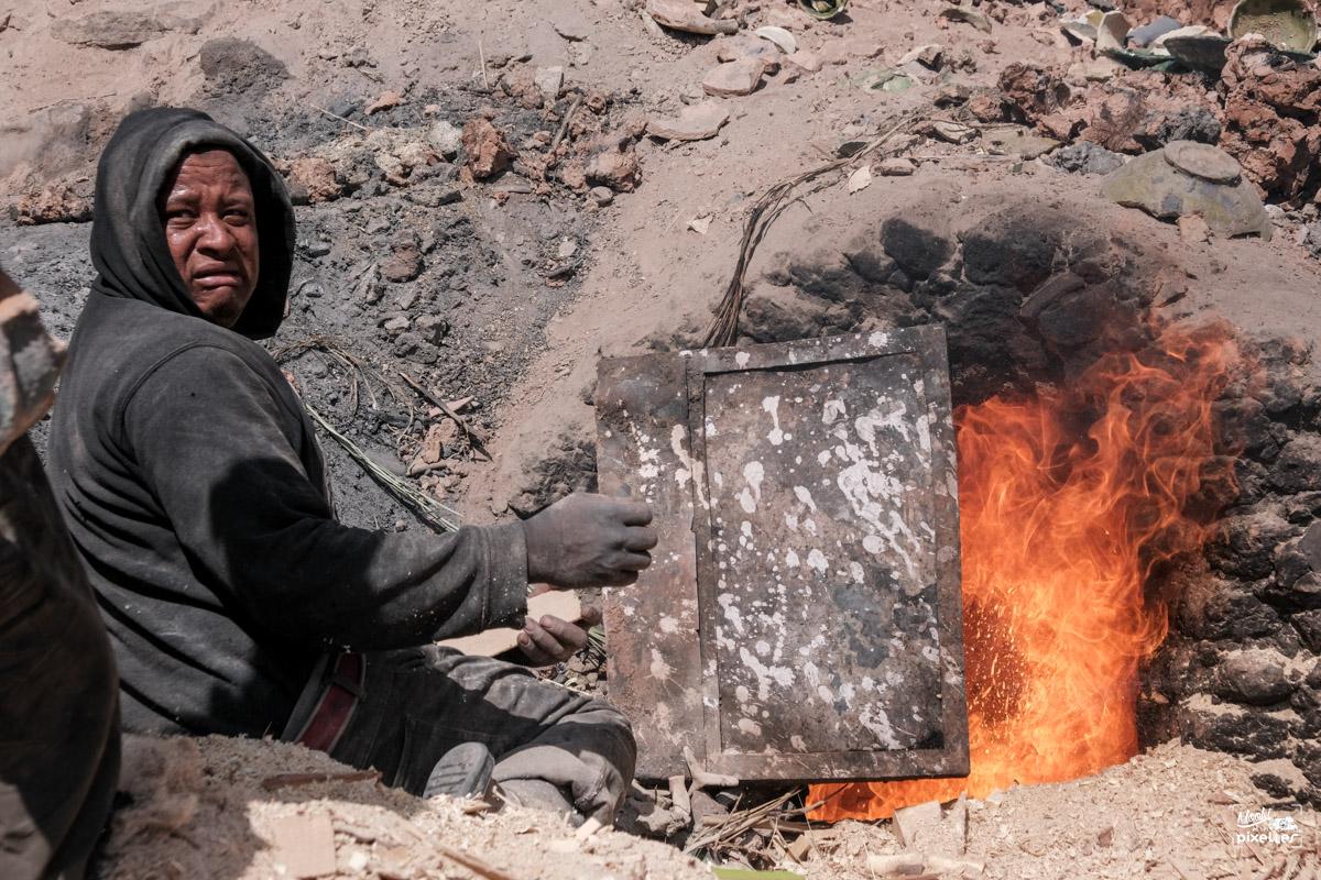 Travailleur au Maroc