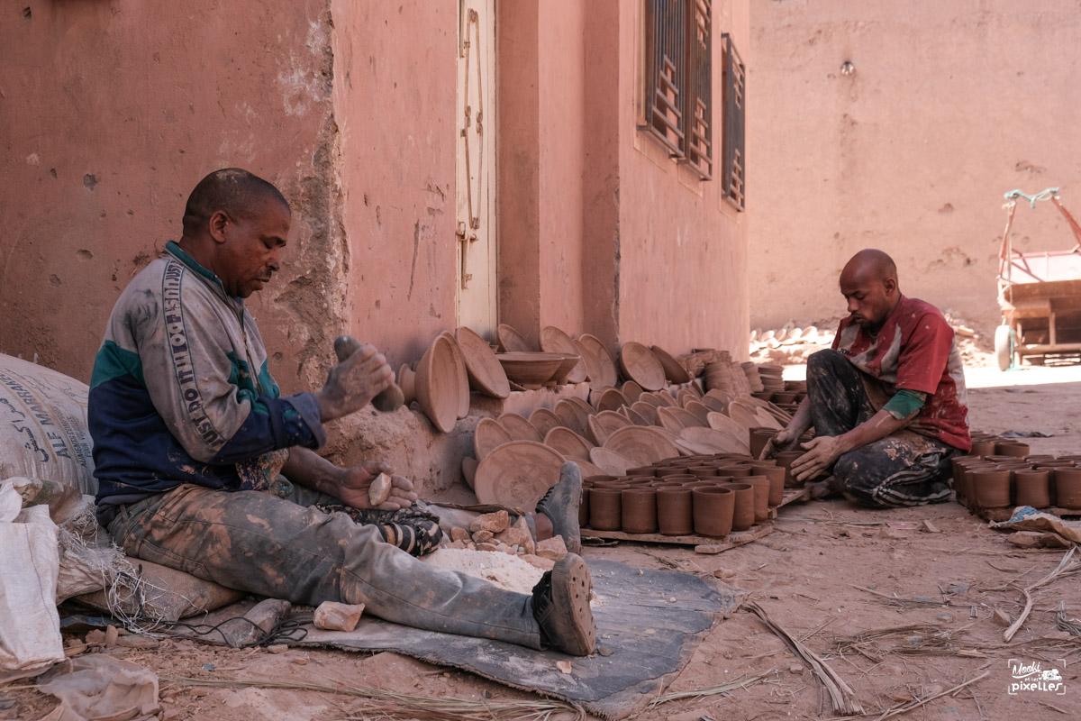Les potiers marocains