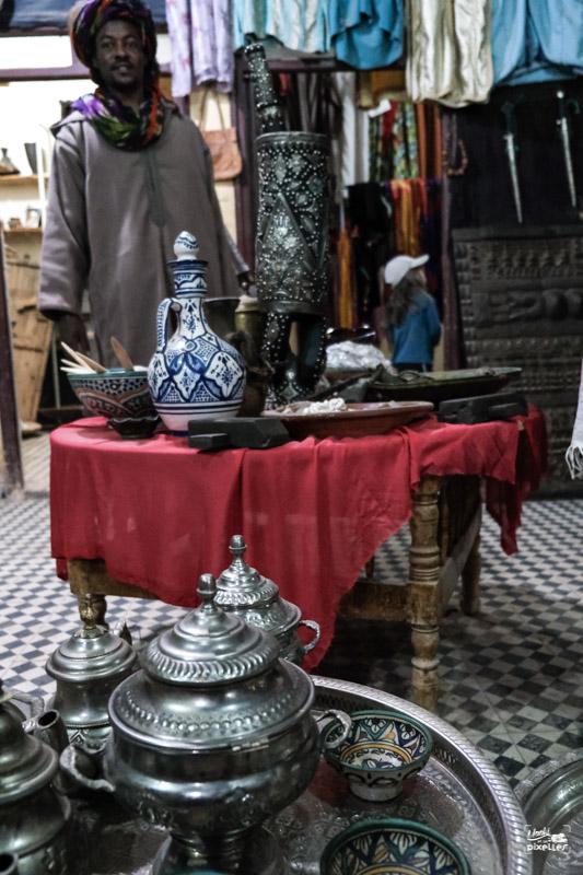 Boutique de souvenirs au Maroc