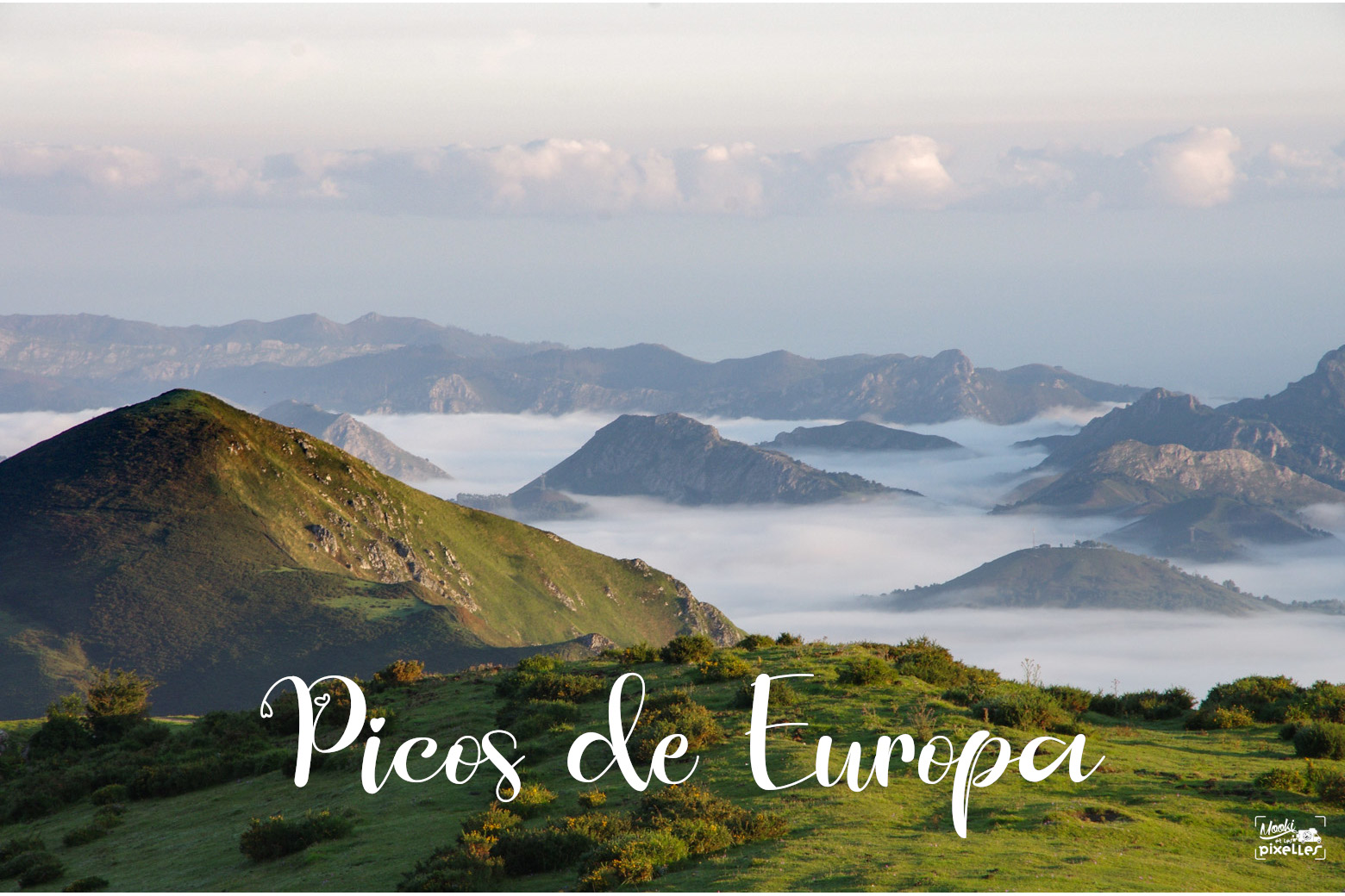 Mer de nuage sur les Picos de Europa en Espagne